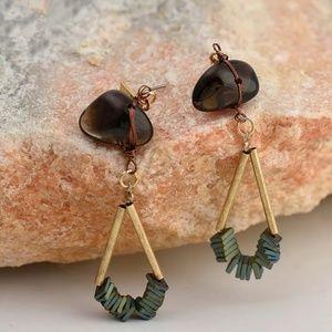Beautiful Ston Drop Earrings